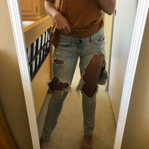 American eagle short skinny stretch jeans